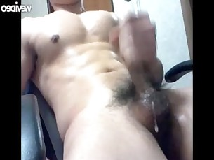 Korean Man cum big dick