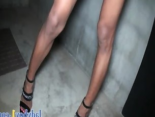 Gorgeous hung ladyboy gets her tight butthole fucked good