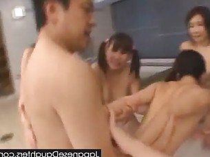 Daddy loves to violate young japanese daughter in ass