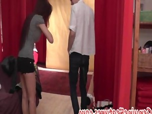 Vietnamese teen shows her sexy body at the CASTING