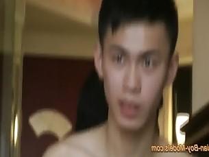 Cute Asian Boy Got Handjob From Backside