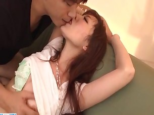 Japanese wife Tsurara Junna lets hubby to fuck her hard