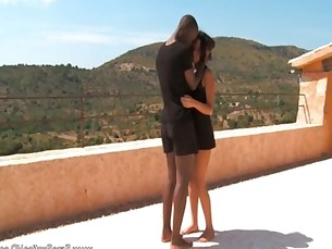 African Ebony MILF Outdoor Lovers