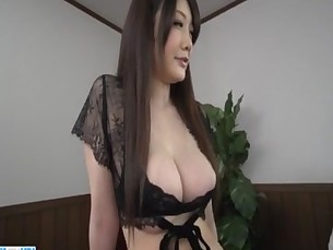 Rie Tachikawa big tits Japanese enjoys a good cock