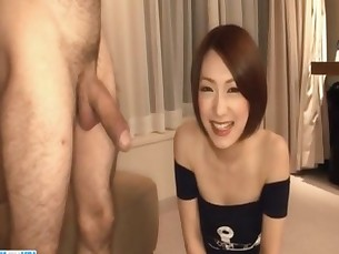 Nene Iino throats big cock until exhaustion