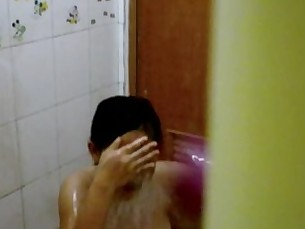 asian girl shower spy