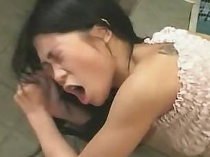 Cute asian deep anal