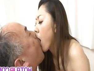 Ruri Hayami has hairy vagina licked and fucked