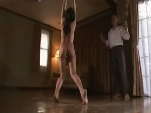 Japanese beauty suspension and whipping