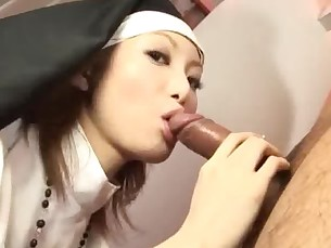 Sister Rika Sakurai prays to the sex gods for a soaking wet pussy