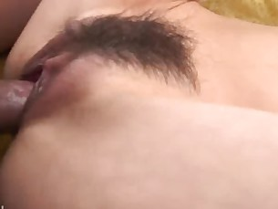 Juicy Miina Yoshihara rides a hard cock until she is split wide open