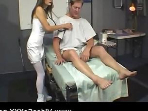 Depraved nurse fucks her patient