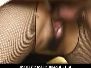 Yuka Osawa in fishnet body