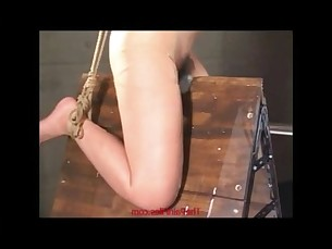 Amateur japanese slaves electro bdsm and extreme wooden rack suspension bondage