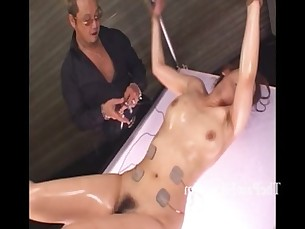 Japanese electro bdsm and extreme asian bondage of punished oriental slaveslut