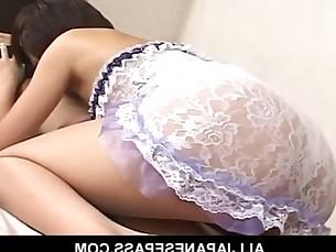 AV model has her sweet pussy spread by a huge dick