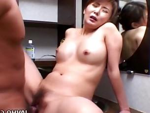 Precious Asian babe rides cock like mad