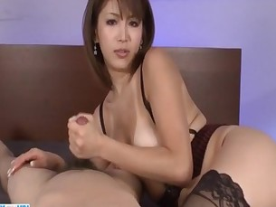 Serious POV oral scenes with superb&nbsp_Mai Kuroki&nbsp_