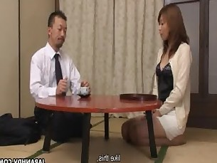 Concerned milf gets fucked in a hot threesome