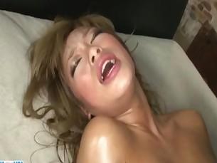 Rough Aisan threesome along big tits model&nbsp_Rumika