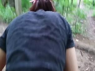Fucked Asian Teen Classmate in the Forest