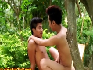 Gay asian twinks masturbate after sex