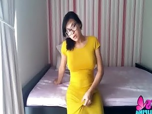 Beautiful Asian Shemale Morning Masturbation