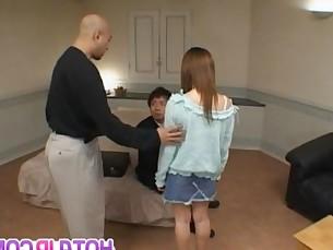 Ayu Mayumi is pumped in pussy