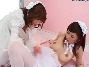 Asian futanari babes sucking and pleasuring