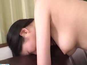 Yuzuha Takeuchi seems horny and eager to fuck