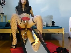 ASIAN SISSY SQUIRTS FROM HER BOY CLIT